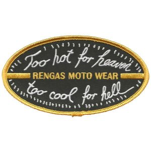 Rengas Moto Wear patch Too-hot for heaven